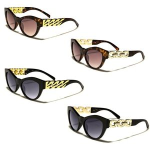 Cat Eye Chain Embellished Fashion Sunglasses